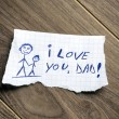 Stock Photo: I love you, Dad!