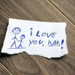 I love you, Dad! — Stock Photo