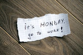 It's monday, go to work. — Stockfoto