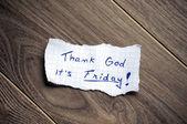 Thank God it's Friday! — 图库照片