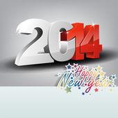 Tarjeta de felicitación de año nuevo — Vector de stock