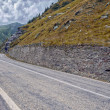 Mountain road on the Transfagarasan — Foto Stock