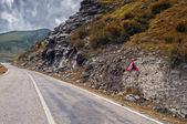 Mountain road on the Transfagarasan — Stock Photo