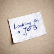 Looking for a Job Background! — Stock Photo
