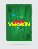 Be the best. Motivational Background — Vector de stock