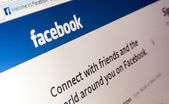 Photo of Facebook web page. — Foto de Stock
