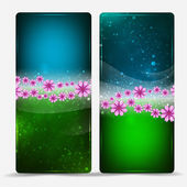 Banners with flowers — Stock Vector