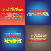 Set Of Motivational Quotes. — Stock Vector