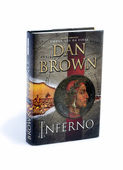 Inferno written by Dan Brown isolated on white — Stock fotografie