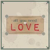 All you need is love — Vector de stock