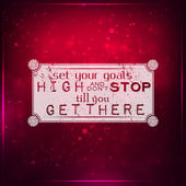 Set your goals high — Stock Vector