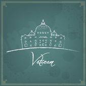 Vatican Retro Background — Stock Vector