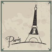 Paris Vintage Background — Stock Vector
