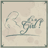 It's a Girl! Vintage background — Stock Vector