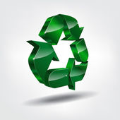3d recycling symbol — Stock Vector