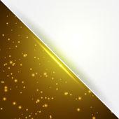 Yellow card with copyspace — Vector de stock
