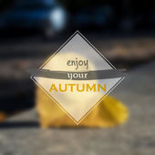 Enjoy your autumn — Stock Vector