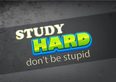 Study hard — Stock Vector