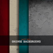Grunge background set — Stock Vector