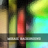 Mosaic background set — Stock Vector