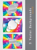 Colorful backgrounds set — Stock Vector