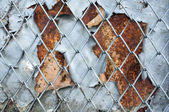 Rusty iron screen background — Stock Photo