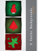 Set of cards with Christmas decorations — Stock Vector