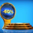 Discount pedestal -60% — Stock Photo