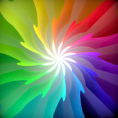 Abstract colorful swirl flower background. 3d render. — Stock Photo