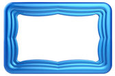 Abstract blue frame isolated on white background. — Stock Photo