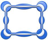 Abstract frame geïsoleerd op witte achtergrond. — Stockfoto