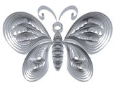 Abstract silver butterfly — Stock Photo