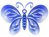 Abstract blue butterfly — Stock Photo