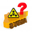 Abstract concept. Use of chemical weapons in Syria. — Stock Photo
