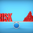Balance of risks. Abstract concept. 3d illustration. — Stock Photo