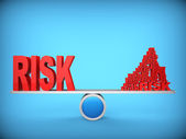 баланс рисков. абстрактное понятие. 3d иллюстрация. — Стоковое фото