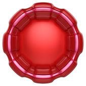 Etichetta astratto cerchio isolato su sfondo bianco. — Foto Stock