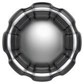 Abstracte cirkel label geïsoleerd op witte achtergrond. — Stockfoto