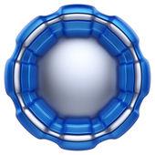 Rótulo de círculo abstrato, isolado no fundo branco. — Foto Stock