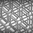 Abstract technology 3D background with metallic rectangles. — Stockfoto
