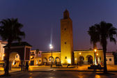 Mosque in Martil at night — Stock Photo