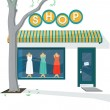 Shop Exterior — Stock Vector