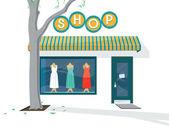 Shop Exterior — Stock Vector