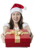 Giving gift box — Stock Photo