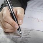 análise de dados financeiros — Foto Stock