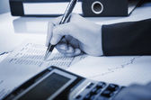 Business calculating — Stock Photo
