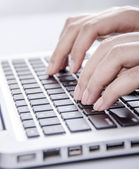 Typing — Stock Photo