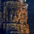 Bayon stone faces — Foto de Stock