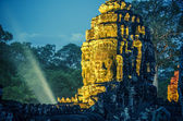 Bayon stone faces — Stock Photo