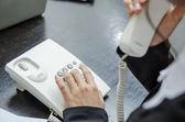 Making telephone call — Stock Photo